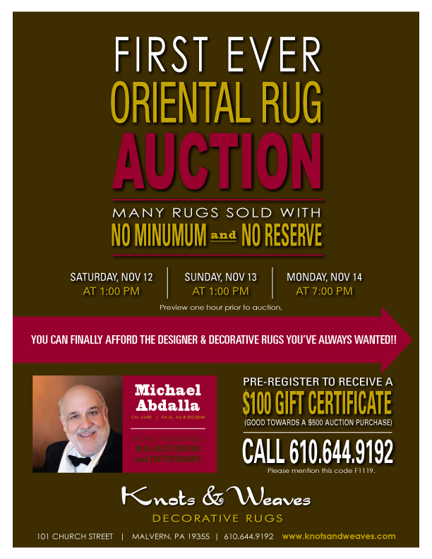 First Ever Oriental Rug Auction Main Line Philadelphia
